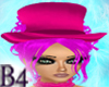 *B4* Pink BurlesqueHat