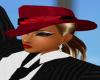 sombrero terciopelo rojo