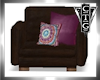 CTG BRW SUEDE CHAIR
