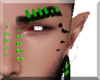 Neon Green Eyebrow Rings