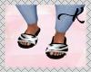 L. Fur Black Slides