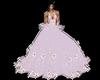 robe bal violet fleur