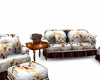 Orchid Floral Sofa Set