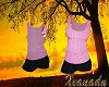 Pink /Black Shorts Set