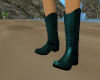 western boots teal