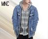 MNC Denim + Plaid Top V3