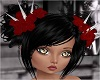 Black Spiked Doll Hair