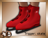 Red Ice Skates Animated