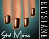 {E} Steam Bronze Nails M