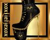 [L] GOLD Skull Boots F