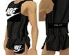 Black Nike run singlet