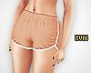 ! Tan Runner Shorts