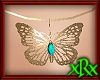 Butterfly Necklace Teal