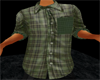 *TRH*KHAKI PLAID SHIRT