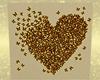 bronze heart wall