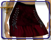 ¤Laced-Up Red Skirt