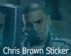Chris Brown Sticker
