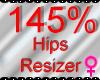 *M* Hips Resizer 145%