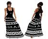 BOHO Black & White Dress