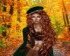fall green hat