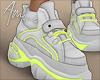 $ WhitexNeon Sneakers