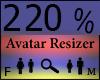 Any Avatar Size,220%