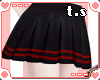 *ts* Pleated Skirt [Blk]