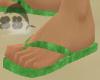 L.Green Velvet FlipFlops