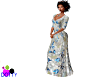 butterfly metalic gown