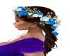 Bmaid Brunette w/Flowers