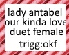 lady ant okl duet female