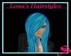 Long blue hair