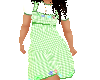 Flat Green Checked dress