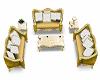 Gold Sofa w Poses