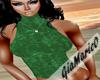 g;green suede top
