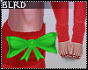 b| Red Socks W/Bow