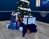 Blue Christmas Gift Pose