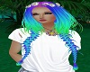 Rainbow hippie braidz