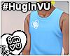 #HugInVU Tank -Blue