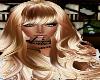 Long Copper Blonde curls