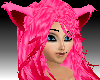 Hot Pink Neon Furry Hair