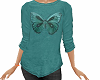 TF* Teal Butterfly Top