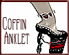 Blood Red Coffin Anklet