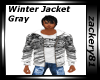 Winter Jacket Gray New