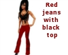 red jeans bl top