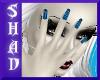 {SP}Blue Stripe Nails
