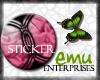 [E] Pink Textured Button