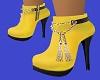 Yellow, Boots, Heels