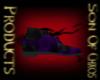 Purple dress shoes
