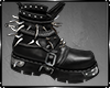 Leather Spike Boots